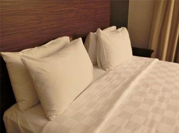 ホテルでのベッドメイクやアメニティの交換をお任せ◎人気の裏方・コツコツワークで大募集! ※画像はイメージ。