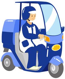 【デリバリー】経験者優遇★もちろん未経験者もOK週2日~/1日4h~OKドライブ気分でスイスイ運転しちゃおう普通免許有る方はミニカーで配達可
