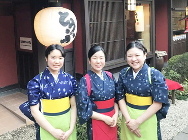 【日本料理店の接客】未経験OK!ジマンできちゃうバイト先です♪キレイな着物でお仕事☆美味しいまかないも◎シフトは希望通りに調整OK♪