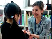 生徒さんと同じようにスタッフも大切にしているので、 働きやすさや人間関係も◎ わきあいあいとした雰囲気の中で働けます!