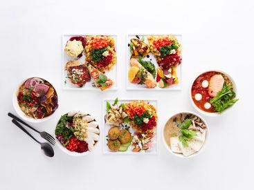 見た目にも鮮やかなメニューがずらり♪ 有機野菜を中心とした健康で美味しいご飯が 賄いで食べれちゃいます。