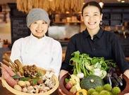 生産者から毎日届く新鮮な食材を、皮まで余すことなくひとつひとつ丁寧に調理しています。体に嬉しい食事がまかないで頂けます!