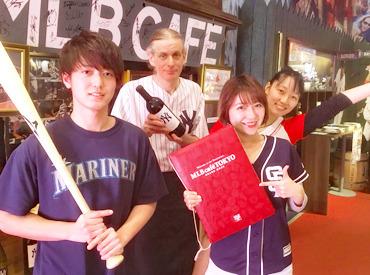 【スポーツカフェStaff】--3月OPEN☆SNS映え間違いナシ--野球のLIVE中継をみんなで応援♪思わず自慢したくなる、そんなバイト先☆▼週1~/オシャレOK