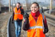 \終電後の線路でレアバイト/ たった3hの勤務で日給1万円GET★ しかも早くお仕事が終わっても日給保証♪ ※写真はイメージ