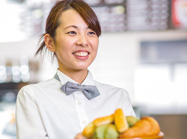 【レストランSTAFF】#おしゃれ #パン屋さんいい匂いに包まれて…(*´▽`*)友達と応募OK♪シフト融通ばっちり!履歴書不要◎