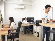 ≪少人数でとてもアットホーム≫ 仕事するときの距離も近く、 先輩スタッフに相談しやすい環境が整っています◎