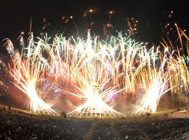 【勝毎花火の会場設営】\履歴書不要/◆今年もこの季節がやってきました!◆皆でワイワイ!楽しい会場設営♪~ お友達同士での応募も大歓迎 ★.* ~