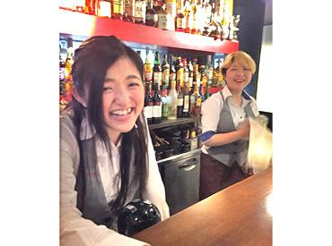 【ホールstaff】゜+オシャレな Dining Bar で働こう..:*22時~は更に時給25%UP!深夜に効率よく◎\お酒好きさん大歓迎★/嬉しい試飲も♪