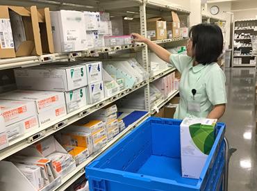 【物品の管理】**キレイで明るい病院ワーク**病院内の備品チェックや物品を届けるお仕事!経験・資格は全て不問です♪