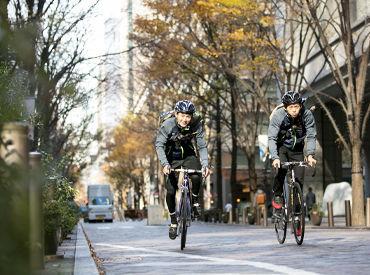 【自転車メッセンジャー】\自転車好きにお勧めのレアバイト◎/≪週2やフルタイムなど好きな働き方ができる!≫髪色自由♪履歴書不要で気軽に応募OK★
