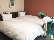お客さまが快適に過ごせるように、気持ちの良いお部屋作りに努めています!私たちと一緒に、楽しく働きませんか?