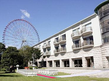 """【フロントstaff】未経験から、憧れの""""ホテルstaff""""へ*゜*◇ウェディングでも人気◇*旅行サイトの口コミも高評価★キレイで開放的なホテル♪"""