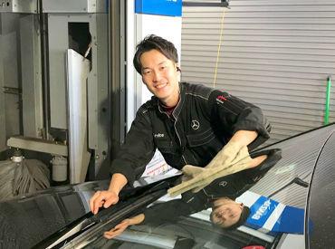 ◆洗車は…◆ 専用の用具を使うので ⇒手作業は少なめでほどよい運動に◎ 働くうちに洗車のコツが身につきます!