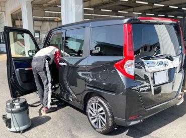 岡山トヨタで洗車スタッフ募集! 未経験でもできるお仕事です♪ 車の知識なども必要ありません!!