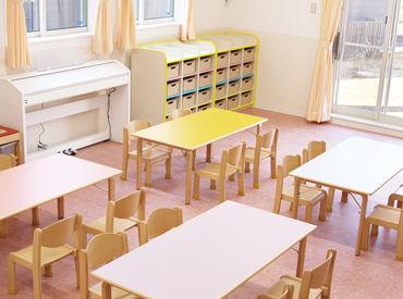 キレイな教室、ひろびろとした園庭… 子ども達がのびのびと過ごせる環境です♪ ブランクがある方も、しっかりサポートしますよ◎