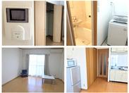写真は、実際のワンルーム寮★家具・家電も完備!きれいな完全個室なので、快適に暮らせます♪+*