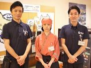 \和風の制服です♪+゜/ 天神・中洲川端・博多駅からは、無料のシャトルバスが運行中!