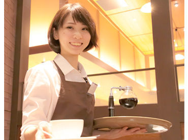 「バイトデビューを探してる」? それなら、カフェで働いてみませんか(^_-)-☆? 接客経験いらず★丁寧な研修でサポートします♪