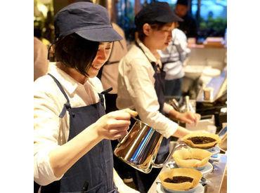美味しいコーヒーに、真心や言葉を添えて… 他では味わえないやりがいがあります♪ 未経験さんも大歓迎です★☆