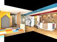 新しい設備やキッズスペースなど、明るく清潔感のある院内◎働くなら、キレイなところがいいですよね♪
