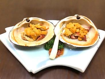 ◆日本酒との相性が抜群の一品◆一年を通して常時20~30種類の貝を扱っています!!一品一品にこだわった料理がお客様から大好評♪