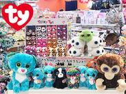 子どもや学生から人気急増中!可愛い動物モチーフのぬいぐるみ「Ty」の日本総代理店♪世界各国で愛されているブランドです!