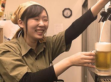 飲食店の経験がない方も安心◎ 研修中はスタッフが1人増員!! ゆっくりとお仕事を覚えられます♪
