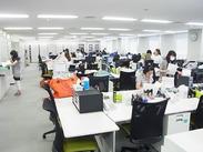 オフィスも綺麗で働きやすさ抜群★ 2017年8月に従業員休憩室リニューアルしました。