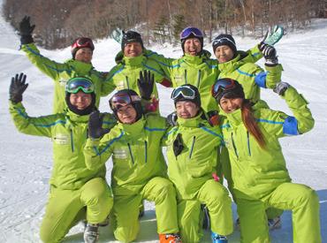 【スクールSTAFF】≫スポーツ好きに必見☆≪菅平高原のゲレンデで楽しく働こう♪初心者の方やお子様にスキー&スノボの教室を運営中◎