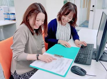 大阪駅前第二ビルで勤務&綺麗なオフィスで快適♪ スタッフも皆とっても仲良し!最近入社した新人さんたちもすぐ馴染めました☆