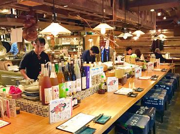 【居酒屋staff】石川県産のお刺身・有機野菜の炉端焼き…旬の食材を使ったメニューをまかないで♪シフト2週間毎!自分のペースで無理なく★