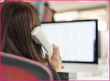 【電話対応】セールストーク、新規開拓など営業活動は一切ありません!出産・育児休暇あり⇒働きやすい♪地域限定正社員を目指せます♪