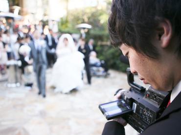 【ムービー撮影STAFF】。゚+. 結婚式のビデオグラファー ゜+.゚デビューまでにシッカリと研修あり◎活躍中のSTAFFは…年齢層・本業も様々♪