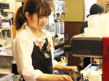 【カフェStaff】コーヒーの香りに包まれて働ける。.*+ショッピングセンター内でお仕事ついでにお買い物も!★週1~ ★交通費支給 ★社割あり