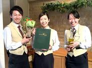 \ホール業務をメインでお任せ/ オシャレなレストランで配膳やオーダー受けなど…落ち着いた空間でお仕事できます♪