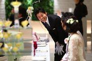幸せいっぱい!華やかで憧れの結婚式…♪感動の瞬間に立ち合えるのも魅力☆「こんな式にしたい」といった夢もふくらみます*