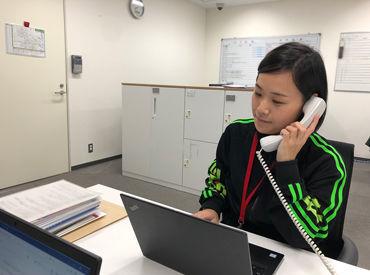 電話対応など、施設のご案内をする電話窓口の業務です♪