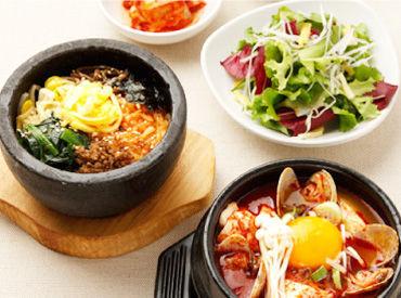 <<まかない無料♪>> 定番のビビンバやスンドゥブetc ヘルシーな韓国料理をまかないでどうぞ★ 食費も節約出来ちゃいますよ♪