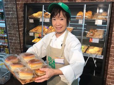 パンはオーナーがひとつずつ丁寧に毎日手作りしています♪コンビニなのに、パンのいい香りが広がっているのもGOOD POINT★