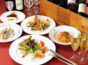 おいしいイタリアレストランのスタッフ向け食事がなんと無料♪まずはお気軽にご応募くださいね!