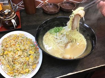 組み合わせ自由!! ラーメン/つけ麺/チャーハン/サラダ..etc あなたのオリジナルまかないセットを堪能せよ!!