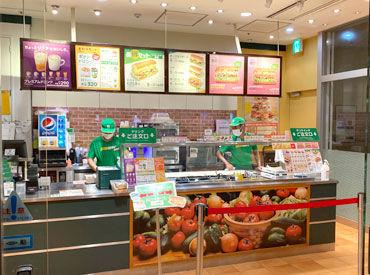 \ヘルシー&美味しいサンドイッチが人気のサブウェイ/ まかないで食べられます♪ お仕事しながら健康もGET!?