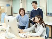 <明るくにこやかな職場環境♪> 年齢を問わず楽しく働けるのが秋栄堂印刷! もちろん先輩社員がサポートしますのでご安心を!