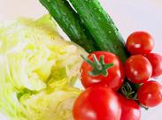 程よく身体を動かせるので、働きながらリフレッシュできますよ♪扱う野菜も軽めのものが多いので、負担になりません!