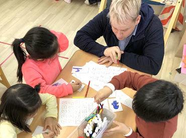 「子どもが好き」「英語が好き」働くきっかけは何でもOKです◎ 日英のバイリンガルスタッフが在籍しています。