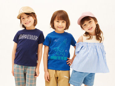 ~スタートのタイミングは相談OK~ イオンモール岡山で販売スタッフ募集.+* 通販サイトでも人気の子供服ブランドです♪