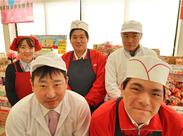 他にも[品出し][青果][鮮魚][精肉][総菜]でスタッフ募集中! 幅広い年代の方が和気あいあいと働いています♪