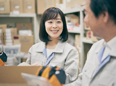 ピカピカのキレイな倉庫で働けるのはオープニングメンバーならでは!! 快適な環境でお仕事をスタートしませんか? ※イメージ画像