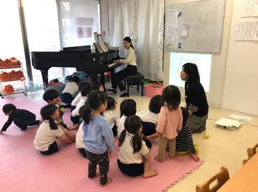 ≪歌がお好きな方にもオススメ!≫ レッスンのなかで、子供達に歌を歌っていただくこともあります◎
