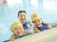 子ども達と接する機会がいっぱい◎STAFFは、お休みの日にジム設備やプールなどを無料で利用できますよ★